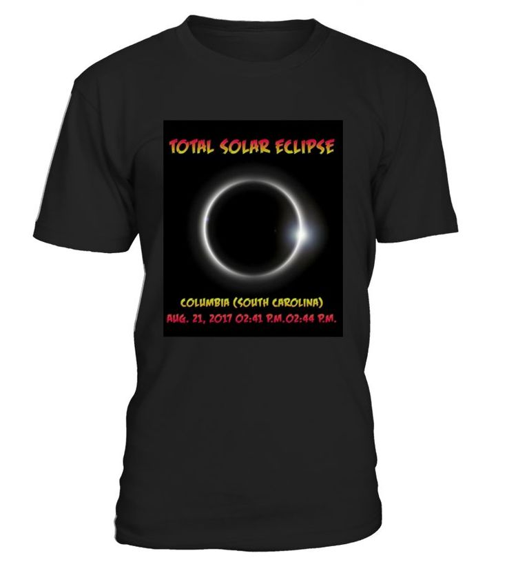 Total Solar eclipse phases of the sun and the moon , something that people will enjoy seeing on your graphic t-shirt.August 21 2017, Totality, present gift for viewing the total solar eclipse, eclipse party, eclipse path, wear with eclipse glasses.   Columbia Carolina Total Solar Eclipse T-shirt is designed and printed to be fitted. For a more loose fit , please order a size up.