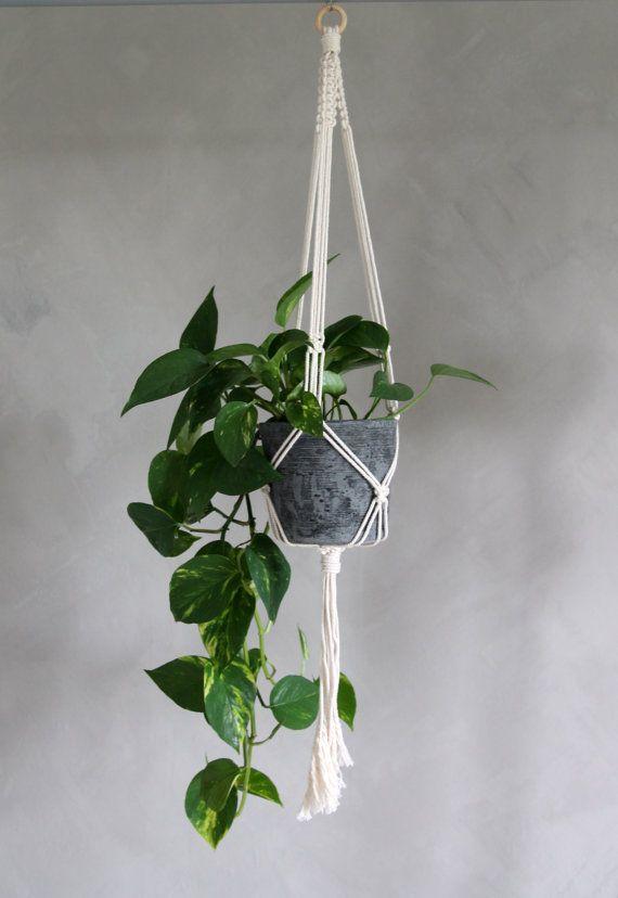 "Macramé Plant Hanger ""Eilikrineia""  - By Helga M. on Etsy / Modern macrame / Boho Macrame / Boho decor / handmade macrame / handmade decor / boho interior"