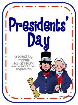 FREEBIE!! President's Day Printables  http://www.teacherspayteachers.com/Product/Presidents-Day-Free-Printables-205028