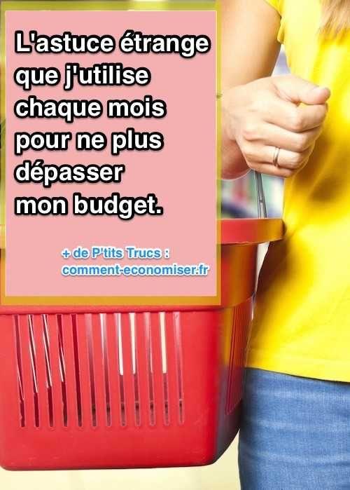 Voici une de mes astuces préférées pour faire mon budget personnel ! Elle est géniale car elle va vous aider à rester en deçà de votre budget et à économiser de l'argent. Vous verrez c'est génial !  Découvrez l'astuce ici : http://www.comment-economiser.fr/astuce-etrange-pour-ne-plus-depasser-son-budget-courses.html?utm_content=buffere58d7&utm_medium=social&utm_source=pinterest.com&utm_campaign=buffer