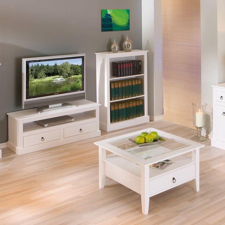 Links 20901530 Provence 3  Mueble de Televisión (Pino), color blanco