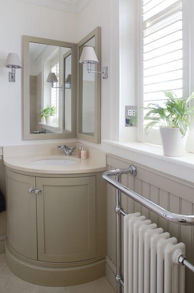 good solution for a corner bathroom vanity unit who s the rh pinterest com Corner Sinks for Small Bathrooms Bathroom Vanities and Sinks