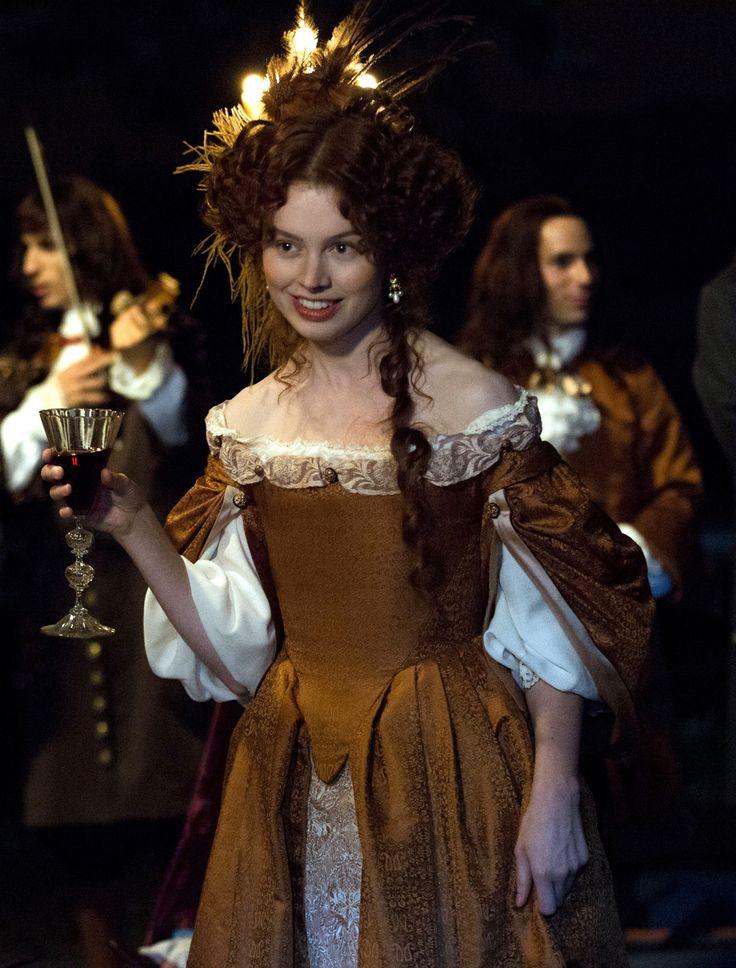 Sarah Winter as Louise de La Vallière in Versailles (TV Series, 2015). [x]
