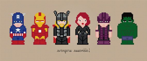 The Avengers Movie Characters  Digital PDF by AmazingCrossStitch