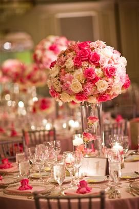 Bouquet rose table