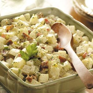 Country Potato Salad Recipe with country onion and chives