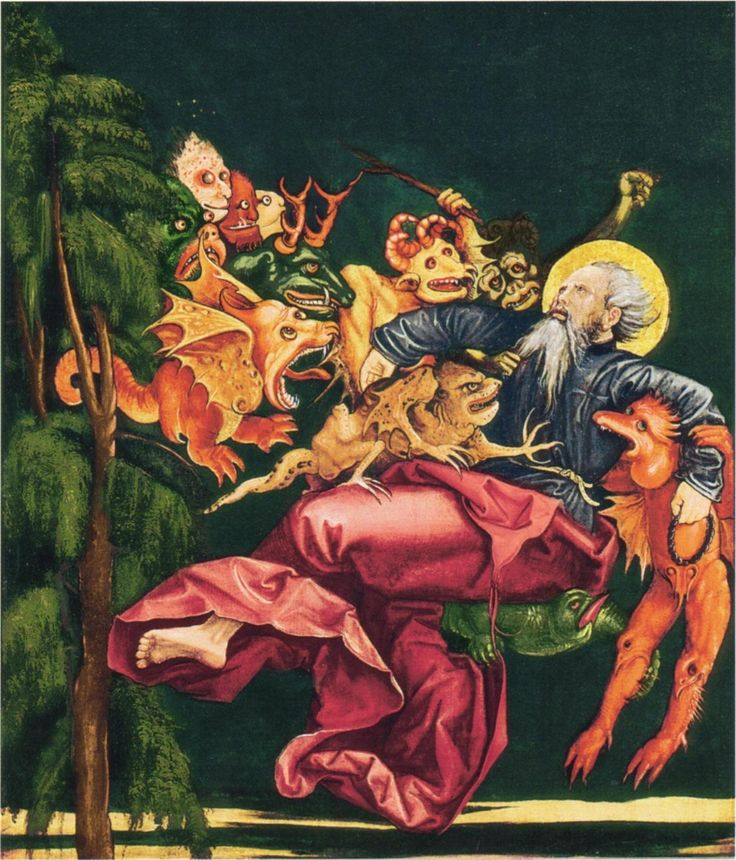 Oberrheinischer Meister - Heiliger Antonius, gepeinigt von Dämonen
