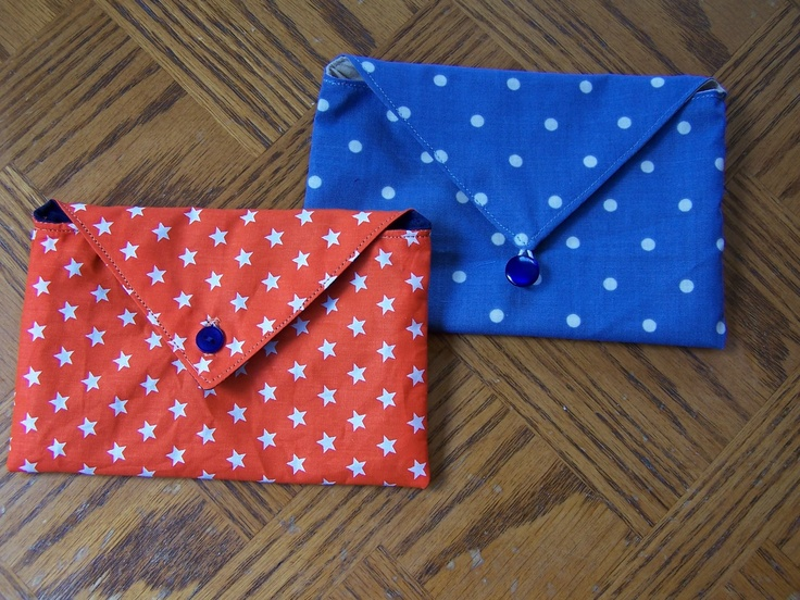 Lilly-Belle Makes The Internet: Fabric Envelope Pouches