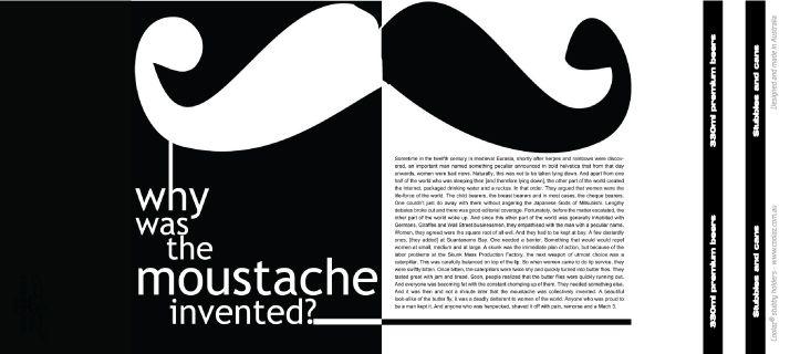 Movember stubby holder