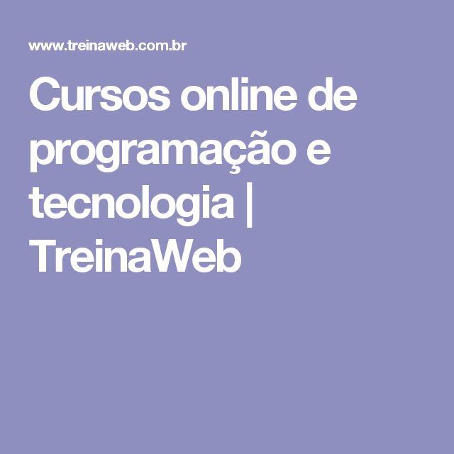 Cursos online de programação e tecnologia | TreinaWeb