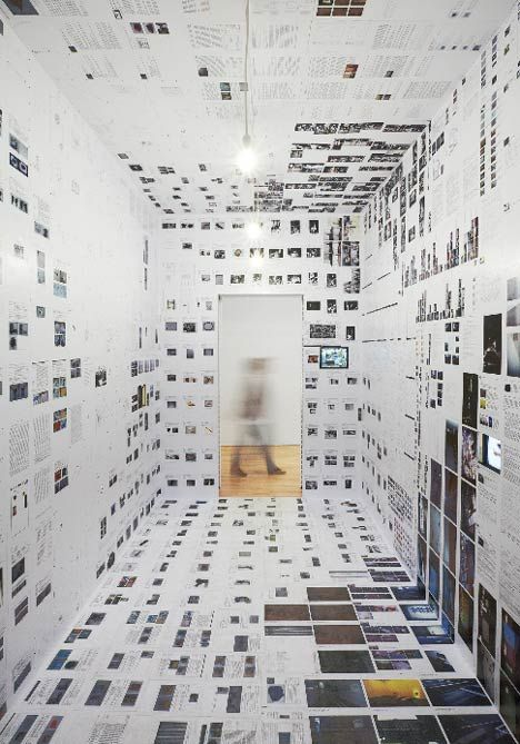 installation by Belgian architects Joris De Schepper and Thomas De Ridder at S.M.A.K - Museum of Modern Art in Ghent, designed to give visitors an idea of the museums work behind-the-scenes.