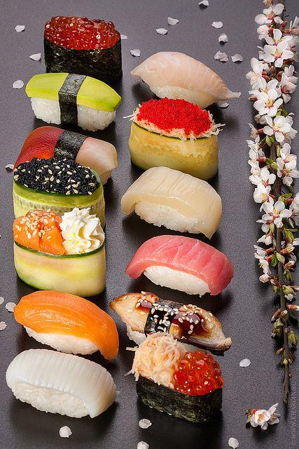 Pl 49 Cases 1-2-3 Exemple de beau plat de sushis. Pose-les sur une belle assiette épurée.