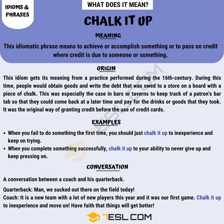Chalk It Up Learn The Meaning Of The Useful Idiom Chalk It Up