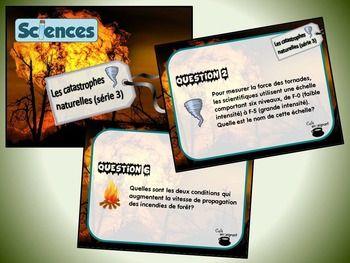 Cette série de cartes à tâches traite des catastrophes naturelles et des phénomènes météorologiques (sciences, la Terre et l'espace). Dans le cadre de cette activité, les élèves doivent répondre à différentes questions portant sur plusieurs aspects des catastrophes naturelles tels que les comportements sécuritaires à adopter, les causes et les conséquences de ces phénomènes, les moyens de prévention à privilégier, etc.  [...]