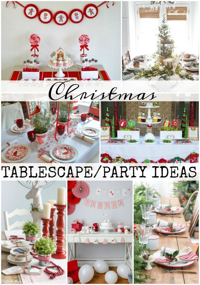 Christmas tablescapes party ideas - Interesting tables capes for christmas providing cozy gathering space ...