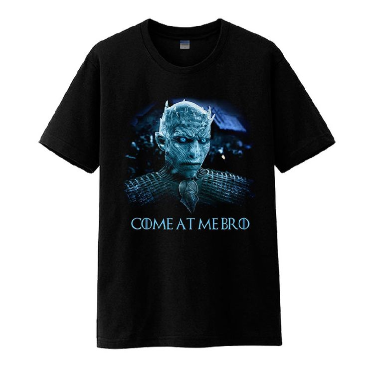 2017 TV Series Game of Thrones Season 7 The Others The White Walkers Black Cotton O-Neck Print Short Sleeve T-shirts Tee Shirts - Direwolf Shop Direwolf Shop