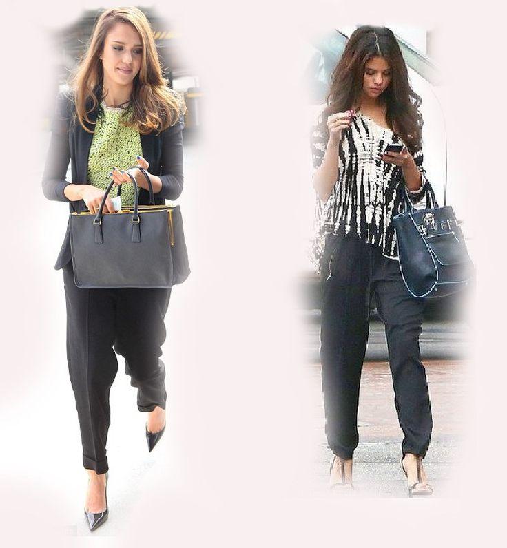 Harem Pants Jessica Alba Vs Selena Gomez Fashion Diva Who Wore It Better Celeb Celebrity