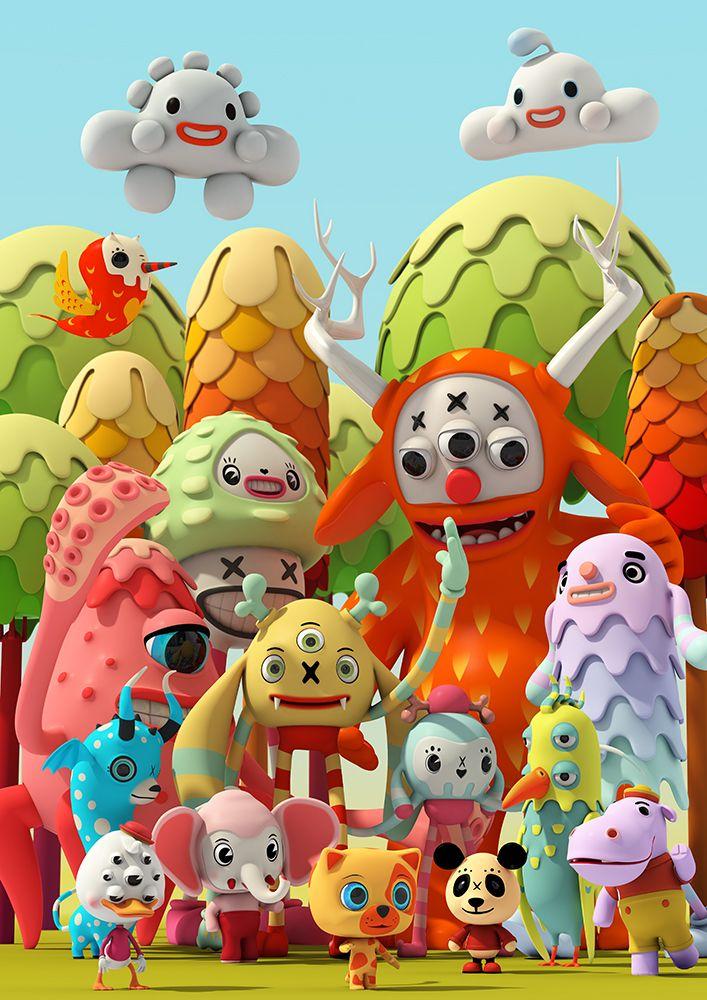 Pets and Monsters- Candy Dream by Teodoru Badiu | Cartoon | 3D | CGSociety