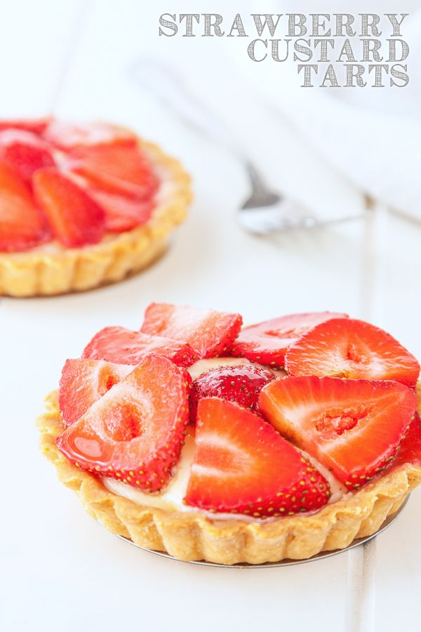 Strawberry custard tarts recipe   @Delicious Everyday DeliciousEveryday.com