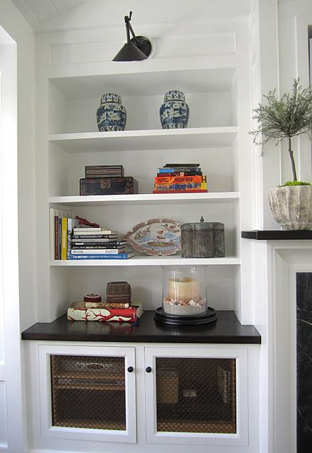 need to figure out how to do something similar around the fireplace mantle we found to house TV and components, etc.