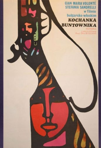 Polish movie poster The Bandit 1971 by M.Hibner