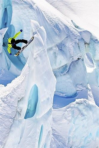 Image: Glacier boarding (© Jeff Curtes)  WOW  http://www.mammothmtnchalets.com