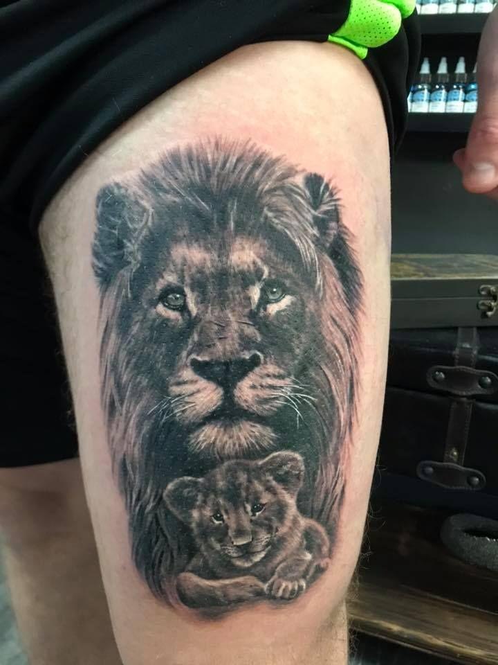 полотне произвольном фото тату с львами кошками рубежом полагают, будто