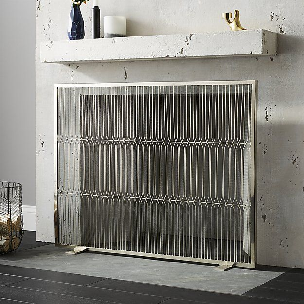 Panes Stainless Steel Fireplace Screen Reviews Cb2 Fireplace Screens Modern Fireplace