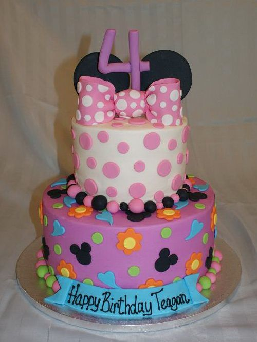 Minnie Mouse kids birthday cake ideas  Cakes, Cakes And More Cakes ...