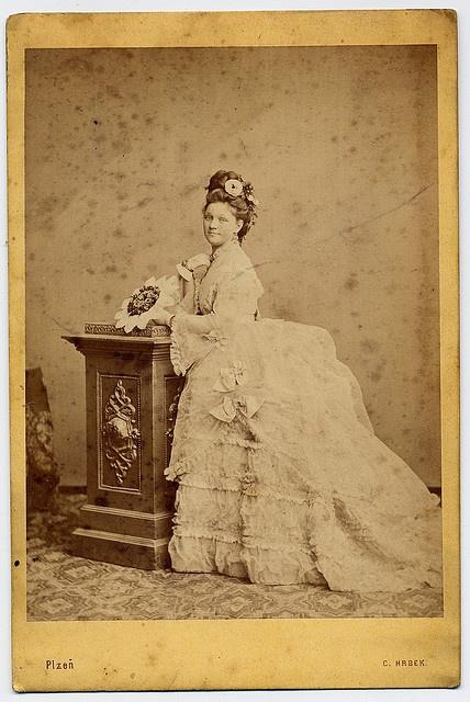 @Rachel - A bride inPlzeň, Czech Republic. Circa 1875.