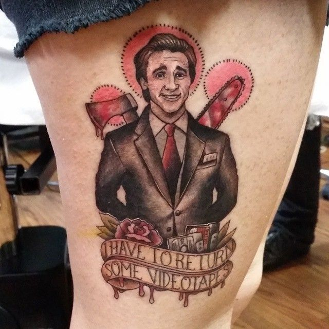 american psycho tattoo by Marie Terry