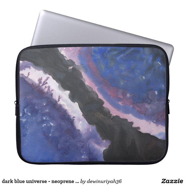 dark blue universe - neoprene laptop sleeve