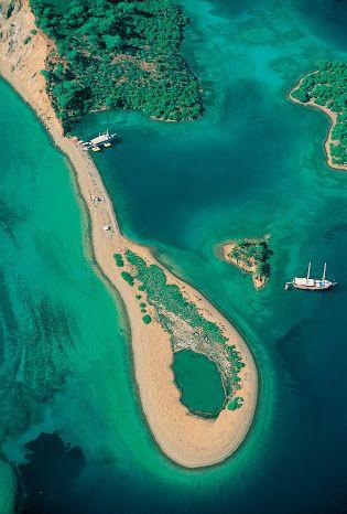 #Gocek , #Turkish_coast from above ! #YachtcharterTurkei…