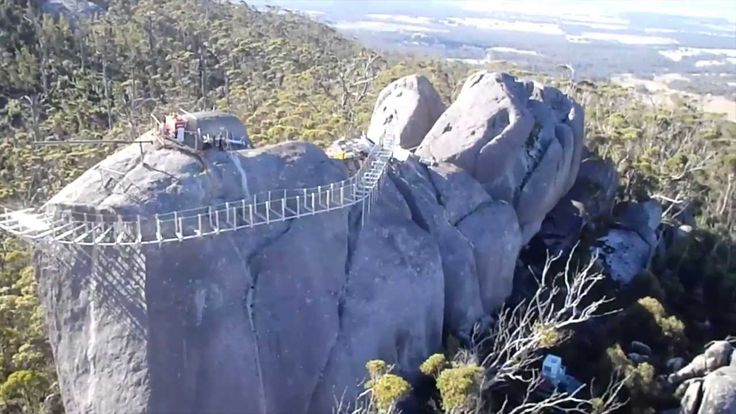 Australia - The Granite Skywalk in the Porongurup National Park, Western Australia near Albany. The Granite Skywalk replaces the old lookout at Castle Rock.