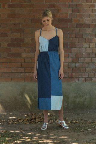 Vanishing Elephant Summer Dress - Panelled Denim – Eclectic Ladyland