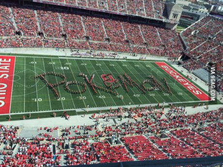 At the Ohio State spring game today