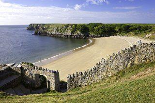 Plage de Barafundle, Pembrokeshire, Pays de Galles