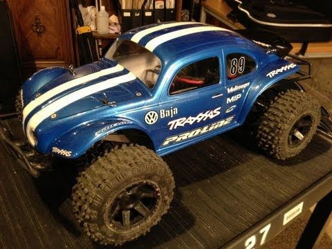Tutorial of Proline Baja Bug Body for Traxxas Slash - YouTube