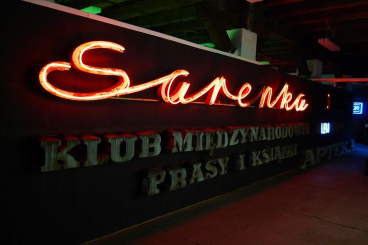 Polish neon which had adorned a leather goods store on Marszałkowska Street in Warsaw/Poland since the 1960's.