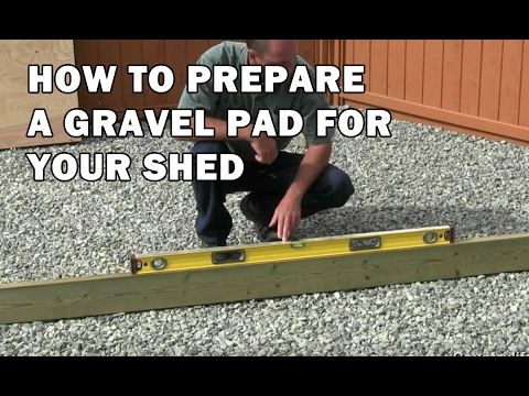 How To Build A Lean To Shed - Part 1 - Gravel Foundation And Floor Framing - YouTube