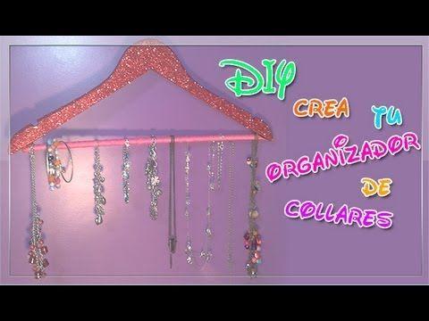 DIY•crea tu organizador de collares - YouTube