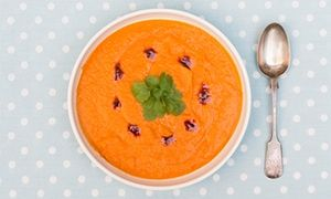 Squash and red lentil soup