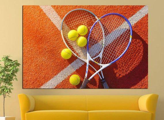 Tennis Cool Office Wall Art Tennis Racket Print Canvas Art Etsy Tennis Posters Sports Wall Art Canvas Art