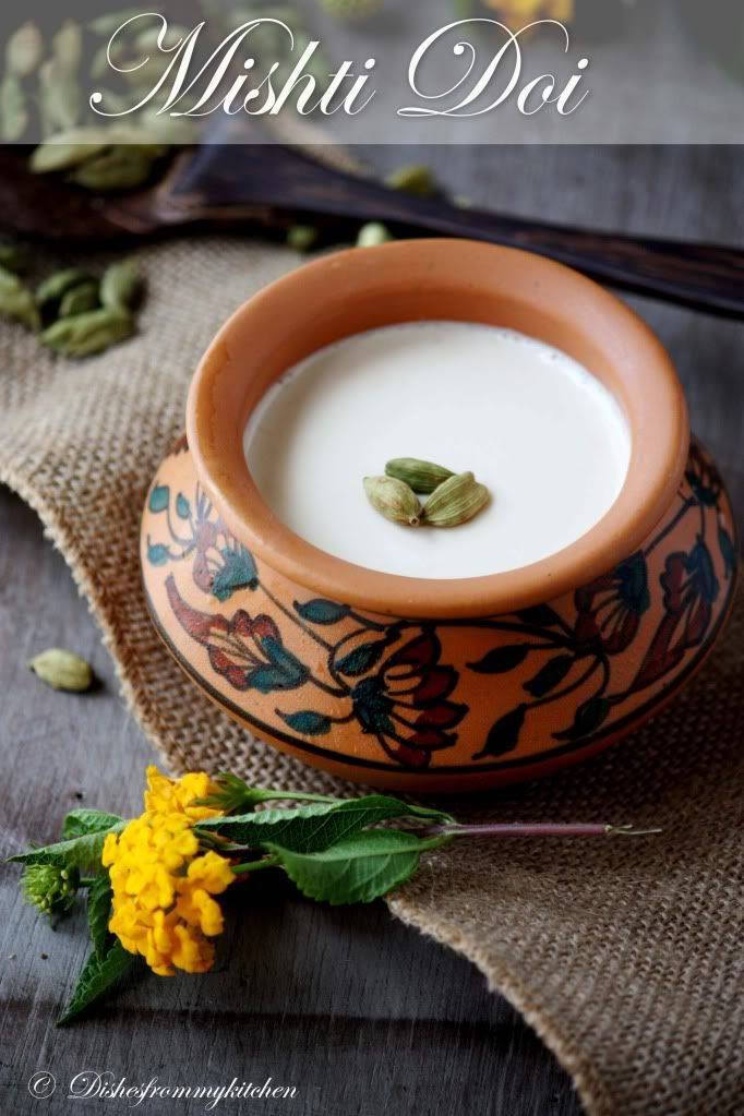 MISHTI DOI - SWEET YOGURT POPULAR BENGALI DESSERT
