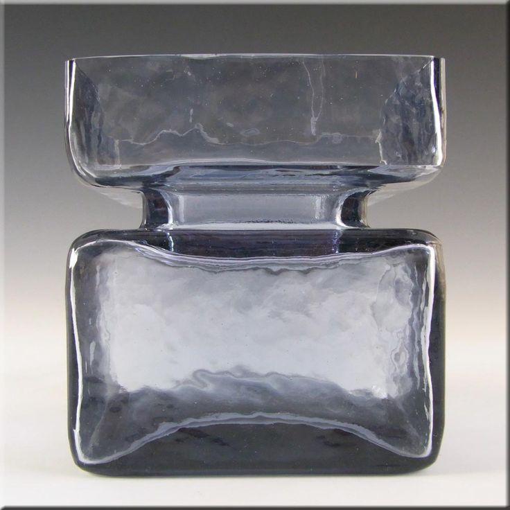 Riihimaki/Riihimaen Helena Tynell Blue Glass Pala Vase - £30.00