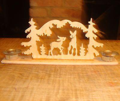 German Christmas Schwibbogen Ornament Putz Tree Candle