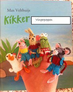 Patronen Vingerpoppetjes van Max Velthuys, kikker, eend, rat, haas, varkentje