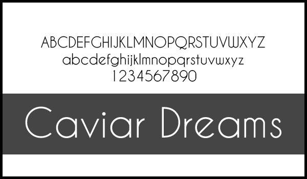 fonte caviar dreams