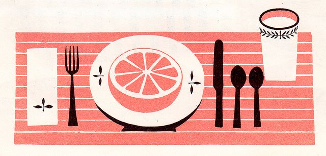 Fun to Cook Book - place setting by jessicascarlett, via Flickr