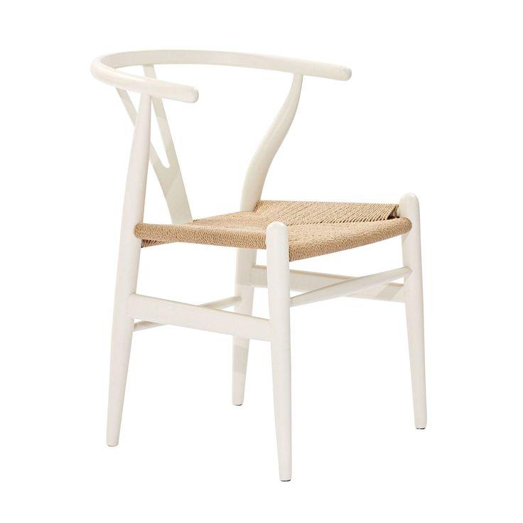 Woven Shaker Chair in White - Dot & Bo